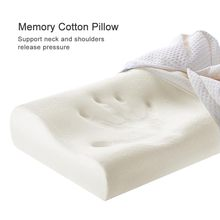 White memory foam sleep pillow high elasticity student adult child home dormitory pillow help sleep protection cervical pillow
