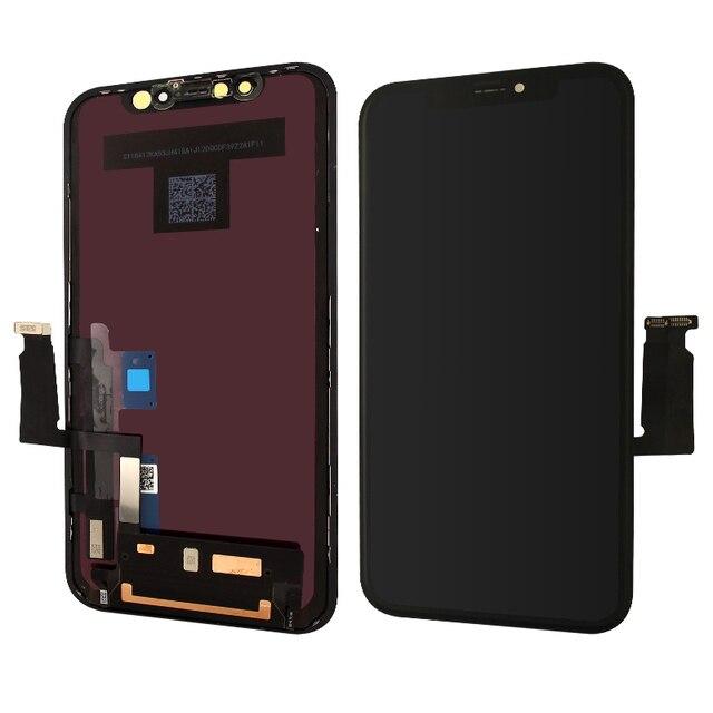 Для Apple iPhone XR ЖК дисплей сенсорный экран с рамкой и инструментами замена закаленного стекла в сборе