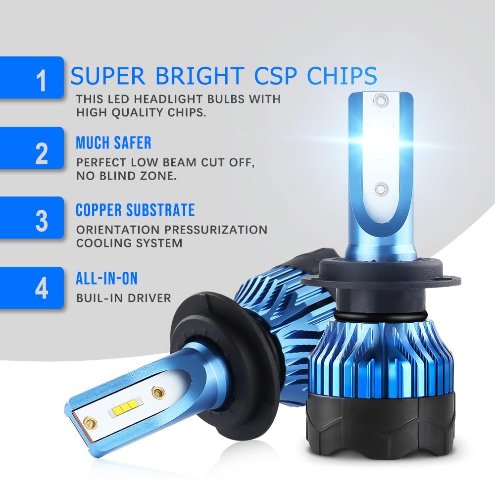 BraveWay 2020 новый товар CSP чип мини размер светодиодные лампы H1 H4 H7 H8 H11 HB3 HB4 9005 9006 светодиодные фары для автомобилей лампочки ледяные лампы птф св...