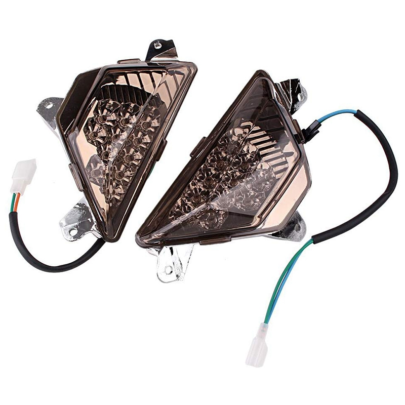 Motorcycle Front Turn Signals Light Shift Lights Blinker Indicator <font><b>Led</b></font> Light for Kawasaki <font><b>Ninja</b></font> 250/<font><b>300</b></font> ZX-6R 636 2013-2016 image