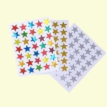 30 листов красочные счетные Стикеры-звезды золото серебро Красочные самоклеющиеся наклейки звезды для учительницы вдохновляют детей играть