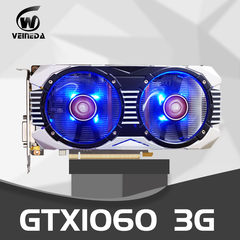 VEINEDA Video Card Original GTX 1060 3GB 192Bit PCI-E X16 GDDR5 3g Graphics Cards for nVIDIA Geforce gtx1060 Hdmi Dvi VGA Cards image