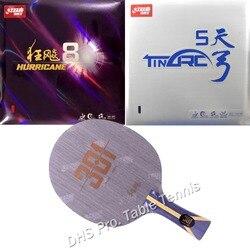 Pro Combo Racchetta Dhs Hurricane 301Table Tennis Lama con Dhs Hurricane8 E TinArc5 di Gomma con La Spugna