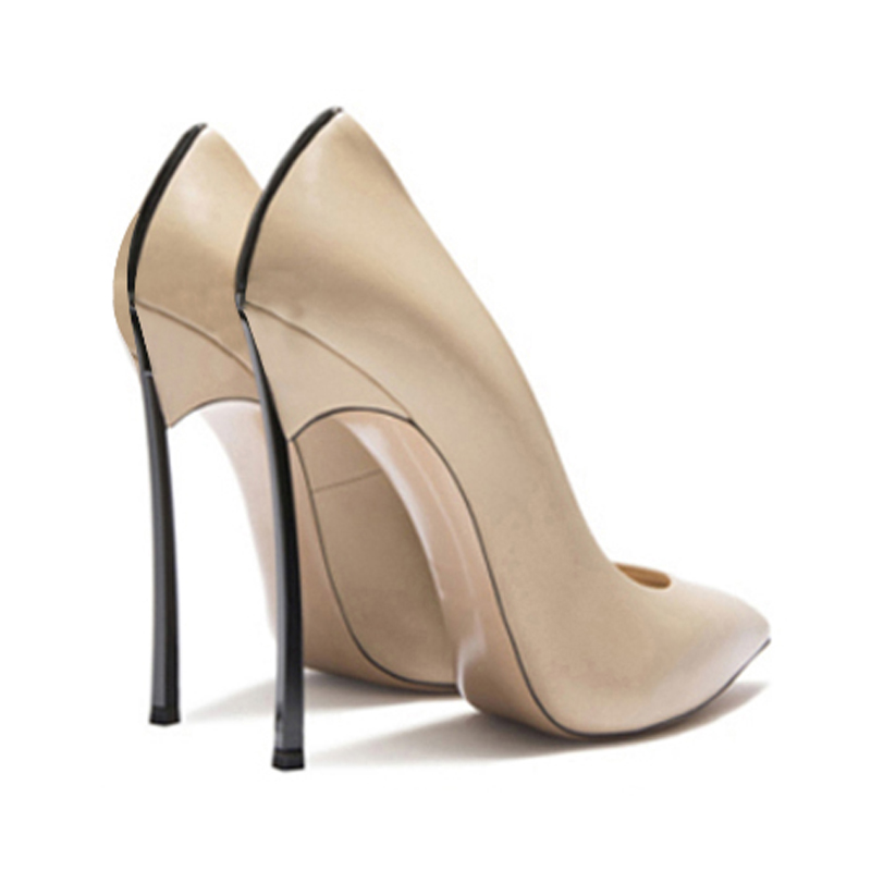 Spring and autumn new ladies sexy pointed high heels 2019 wedding shoes stiletto shallow high heel suede shoes small size women'