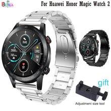 Behua Rvs 22 Mm Horlogeband Vervanging Voor Huawei Honor Magic Horloge 2 Horlogeband Voor Huawei Horloge Gt 2 46mm Riem Riem