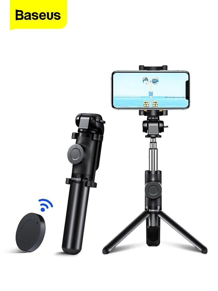 Baseus Stick-Tripod Monopod Selfiestick Mobile-Phone Huawei Xiaomi Flexible Mini Samsung