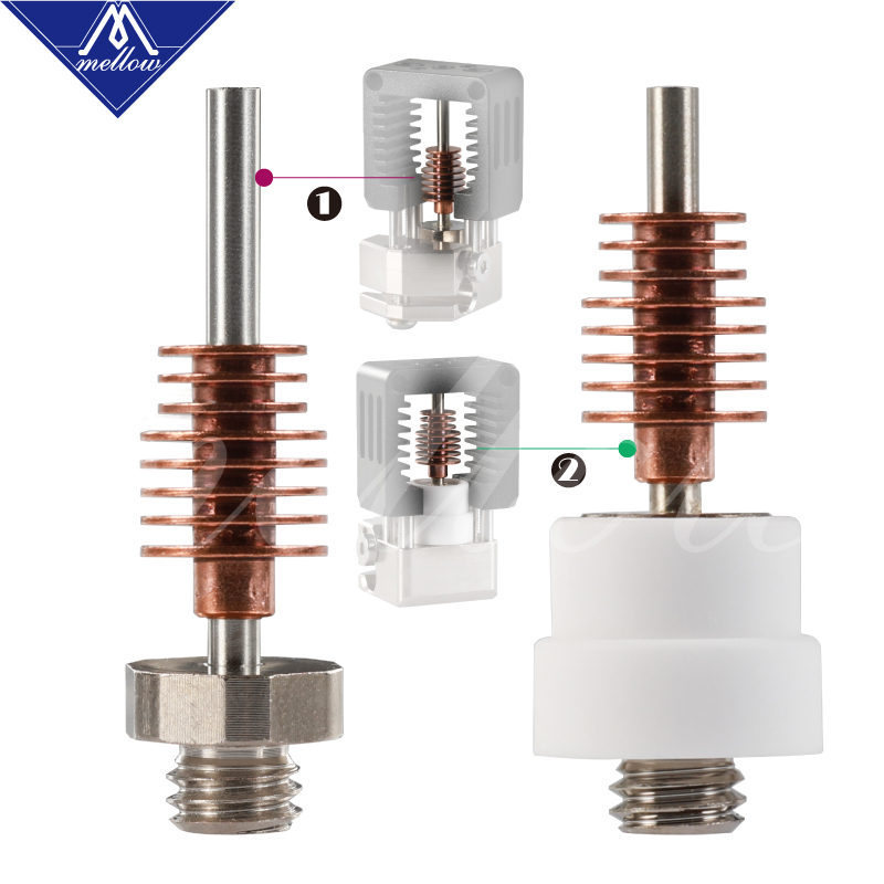 Mellow Replacement Heat Break for Nf-crazy Hotend Mosquito Hotend Mosquito Magnum 3D Printer Parts
