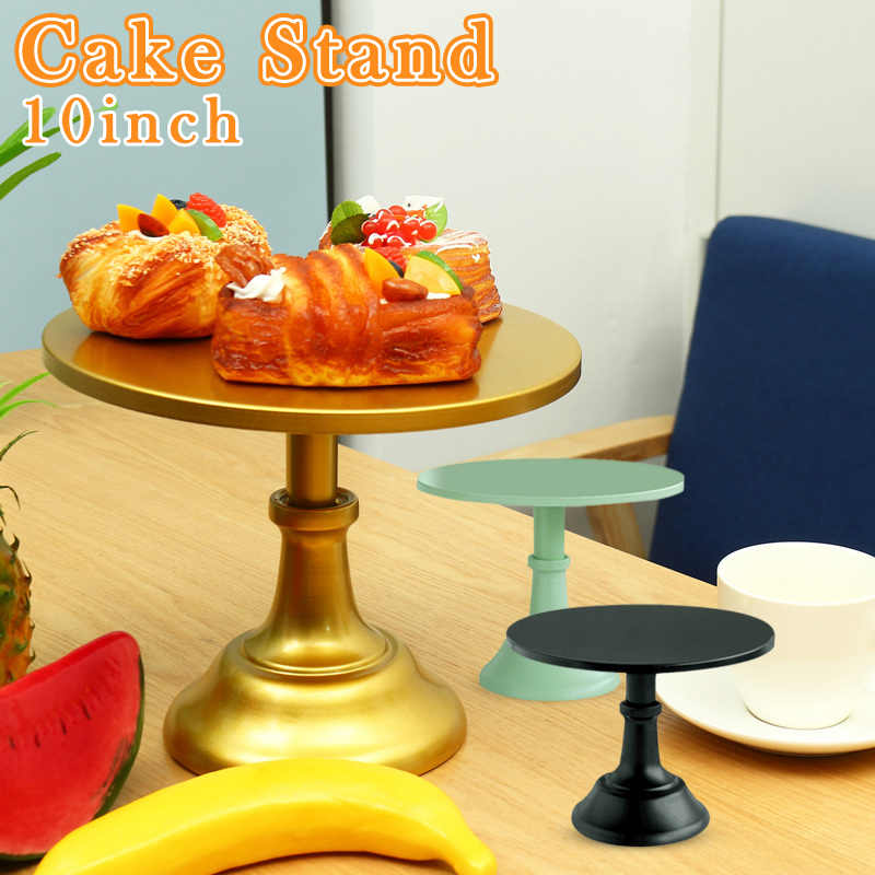Economical Cake Display Stand Dessert Cupcake Serving Plate Round 10 Inch for Wedding Party ds99