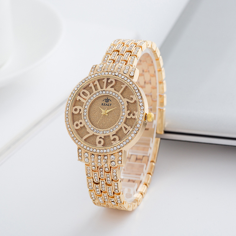 Geneva Watch Women Fashion Luxury Brand Wristwatches Relogio Feminino Ladies Gold Steel Quartz Watches Casual Crystal Rhinestone