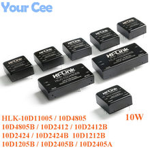 DC-DC isolado módulo de fonte de alimentação não regulada dip 10 w dc para dc HLK-10D11005 10d4805 10d2412 10d2424 10d1212b 10d1205b 10d2405