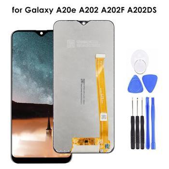 AMOLED para Samsung Galaxy A20e A202 A202F A202DS LCD pantalla digitalizador reemplazo