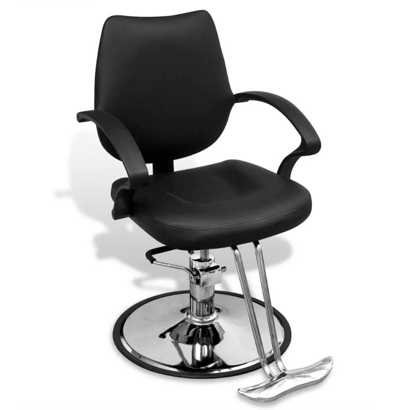 VindaXL Height-Adjustable Barber Chair For Barber Shop Imitation Leather Beauty Salon Armchair Hairdressing Chair