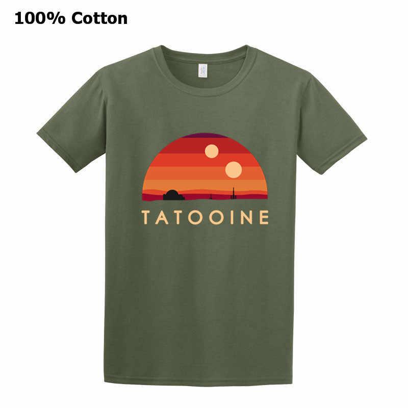 Visitare il Tatooine star Retro Wars T-Shirt Girocollo Da Uomo In Puro Cotone Maniche Corte Tee Shirt Vintage Stile Semplice Più Il formato Maglietta