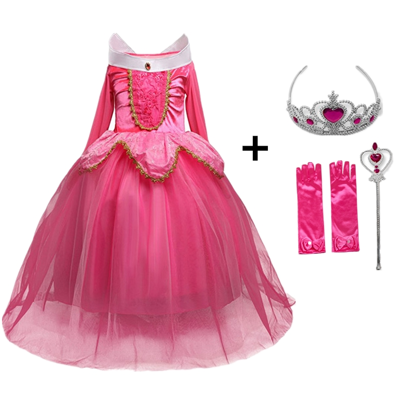 4-10y Little Girl Cosplay Costume for Fairy Beauty Princess Dress Kids Party Wear Children Role-play Dresses 1