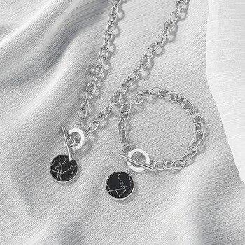 KMVEXO-Cadena de cuello redondo estilo minimalista para mujer, collar, Gargantilla, estilo minimalista,...