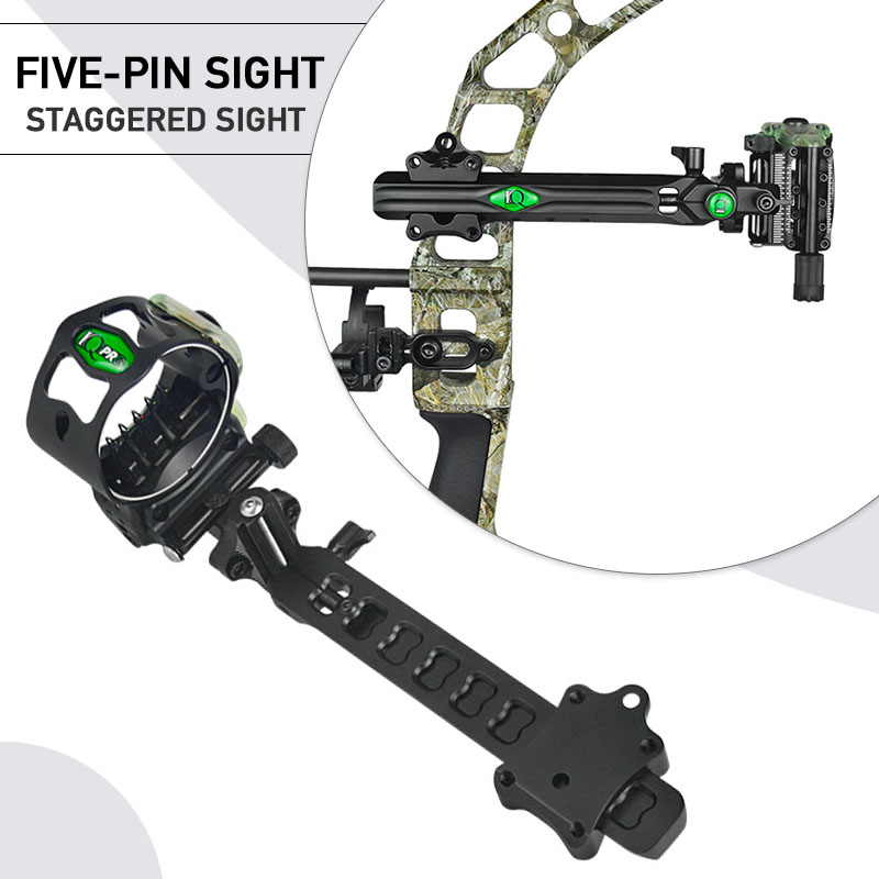 Archery Compound Bow Micro Adjust 5-pin Sight Professional Hunting Accessories Arrow Rest Stabilizer Braided Bow Sling D-Loop