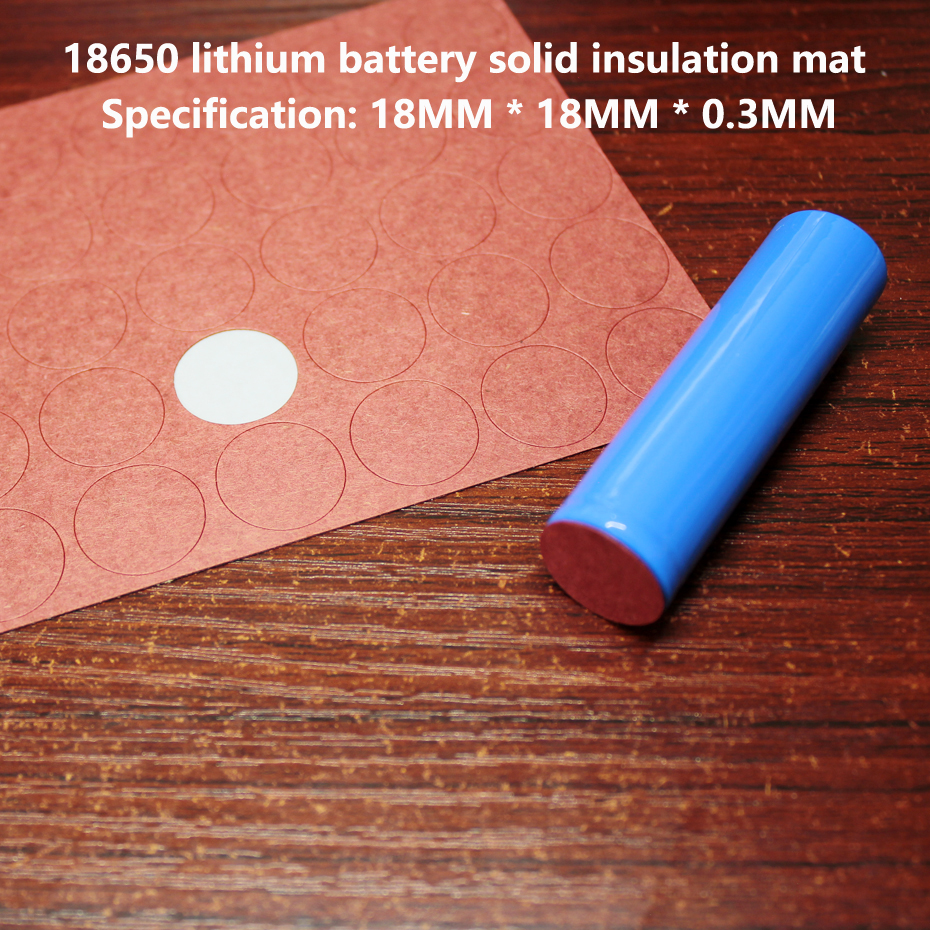100pcs/lot 18650 Lithium Battery Negative Solid Insulation Pad 1S Youth Paper Mesh Pads Battery Parts Assembly DIY