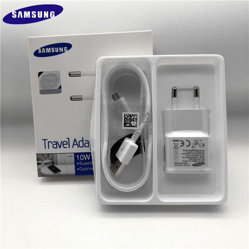 Original <font><b>Samsung</b></font> <font><b>Charger</b></font> Adapter EU 5V/2A Wall <font><b>Charger</b></font> 1M/1.5M Micro USB Cable For <font><b>Galaxy</b></font> S6 S7 Edge plus A5 <font><b>A7</b></font> j7 j5 j4 j3 A10 image