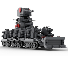 hot lepining military WW2 technic Soviet army KV-44 super heavy tank vehicles War weapons Building Blocks model bricks toys gift