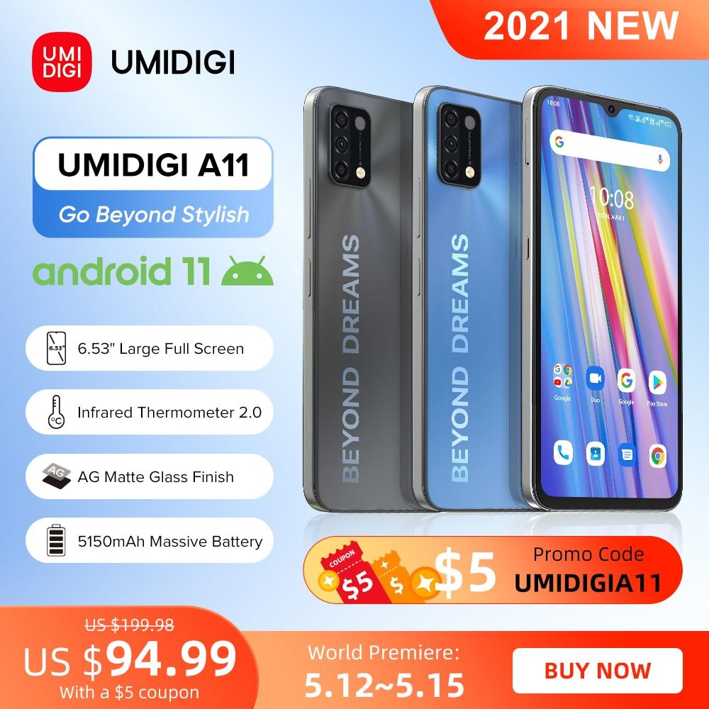 [Мировая премьера] UMIDIGI A11 глобальная версия Android 11 смартфон Helio G25 64 Гб 128 6,53