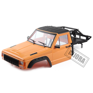 Image 3 - INJORA RC Car Cherokee Body Cab & Back Half Cage for 1/10 RC Crawler Traxxas TRX4 Axial SCX10 90046 Redcat GEN 8 Scout II