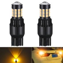 2x7443 W21/8W LED hata ücretsiz işık fren yanıp sönen Led park lambaları araba ters sinyal lambası T20 w21W LED ampul beyaz kırmızı amber