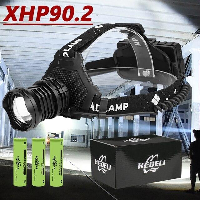 $ US $13.51 300000 LM XHP90.2 LED Headlight XHP90 High Power Head Lamp Torch USB 18650 Rechargeable XHP70 Head Light XHP50 Zoom LED Headlamp