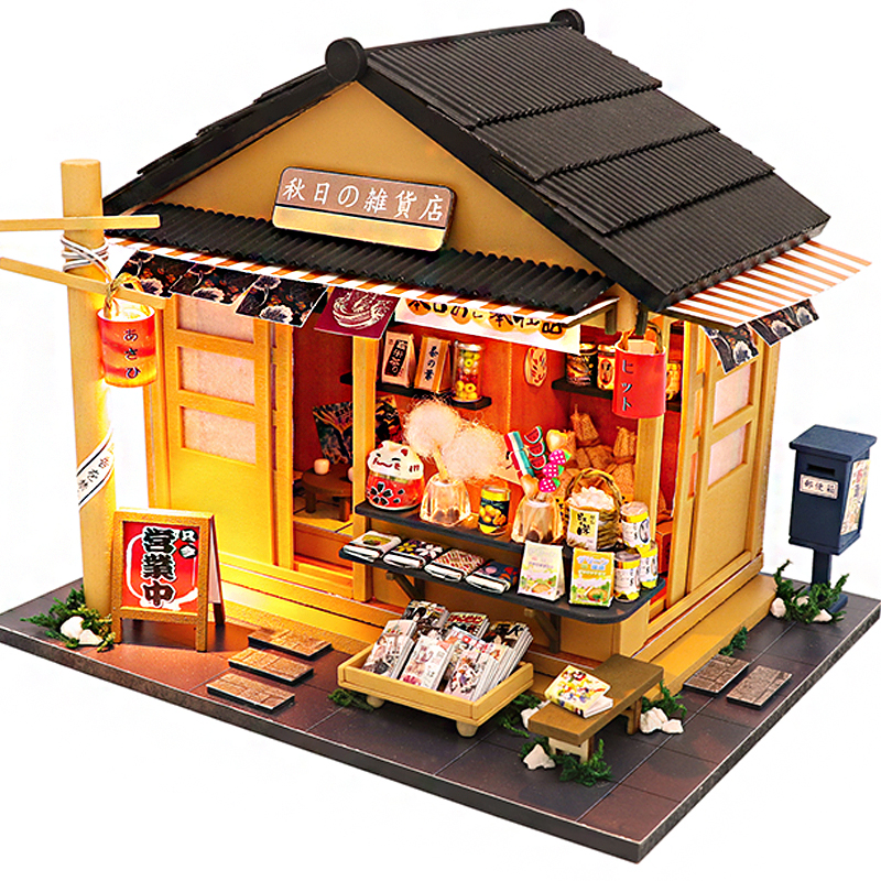 Cutebee DIY DollHouse Wooden Doll Houses Miniature Dollhouse Furniture Kit Toys For Children New Year Christmas Gift  Casa