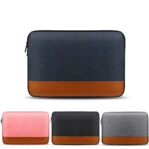 Vmonv Laptop Liner rękaw pokrowca na notebooka torba na macbooka Air Pro Retina 12 13 15 Cal wodoodporna PU skóra miękka obudowa do xiaomi