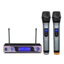 Uhf microfone sem fio com display led mu 589 para alto falante estúdio de gravação tv caixa de áudio mixer dvd player escola ensino