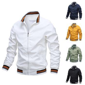 80% HOT SALES!!!Men Spring Autumn Long Sleeve Zipper Solid Color Outwear Sportwear Jacket Coat