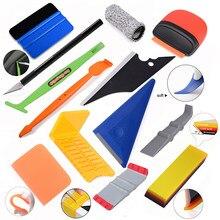 Foshio acessórios do carro bens vinil envoltório conjunto de ferramentas kit ímã rodo ppf raspador filme de fibra carbono embalagem faca janela matiz