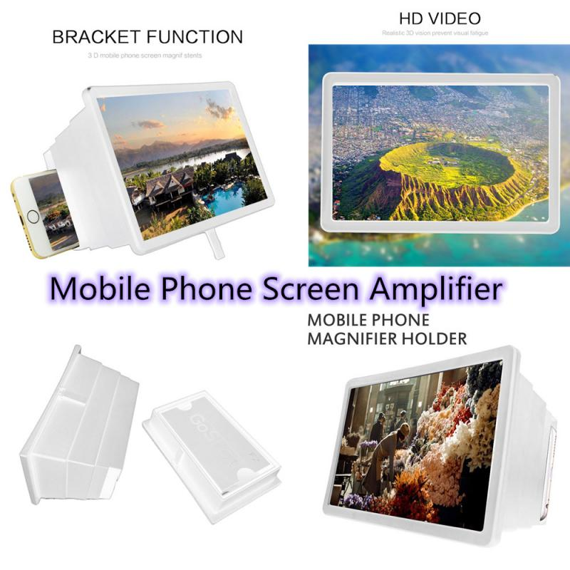 Mobile Phone 3D Screen HD Video Retractable Amplifier Magnifying Glass Stand Bracket Holder Magnifier free drop shipping