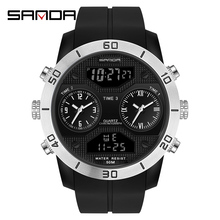 SANDA 2020 Fashion Trend Waterproof Digital Watch Sports Outdoors Multifunctional Electronic Men Watches Relogio Digital 3001 noritsu minilab new qss 3001 digital aom driver one year warranty z025645 00 1124001 for photo laser 3001 minilab 1pcs