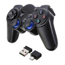 2.4G sans fil manette Pro contrôleur Double choc Anti-sueur joypad avec adaptateur USB pour Android tablettes PC TV Box