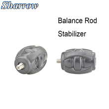 Archery Shock Absorber Long Compound Recurve Bow Stabilizer Ball Balance Bar Damping Silencer Accessories Hunting Equipment 1pc archery bow stabilizer shock absorbing weight ball damping bow riser handle balance bar silencer outdoor shooting accessory
