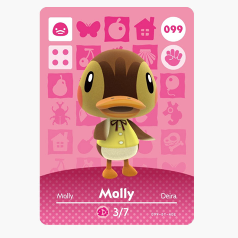 099 Molly Animal Crossing Card Animal Crossing Amiibo Figures Switch Welcome Amiibo Villager New Horizons Amiibo Card Gift