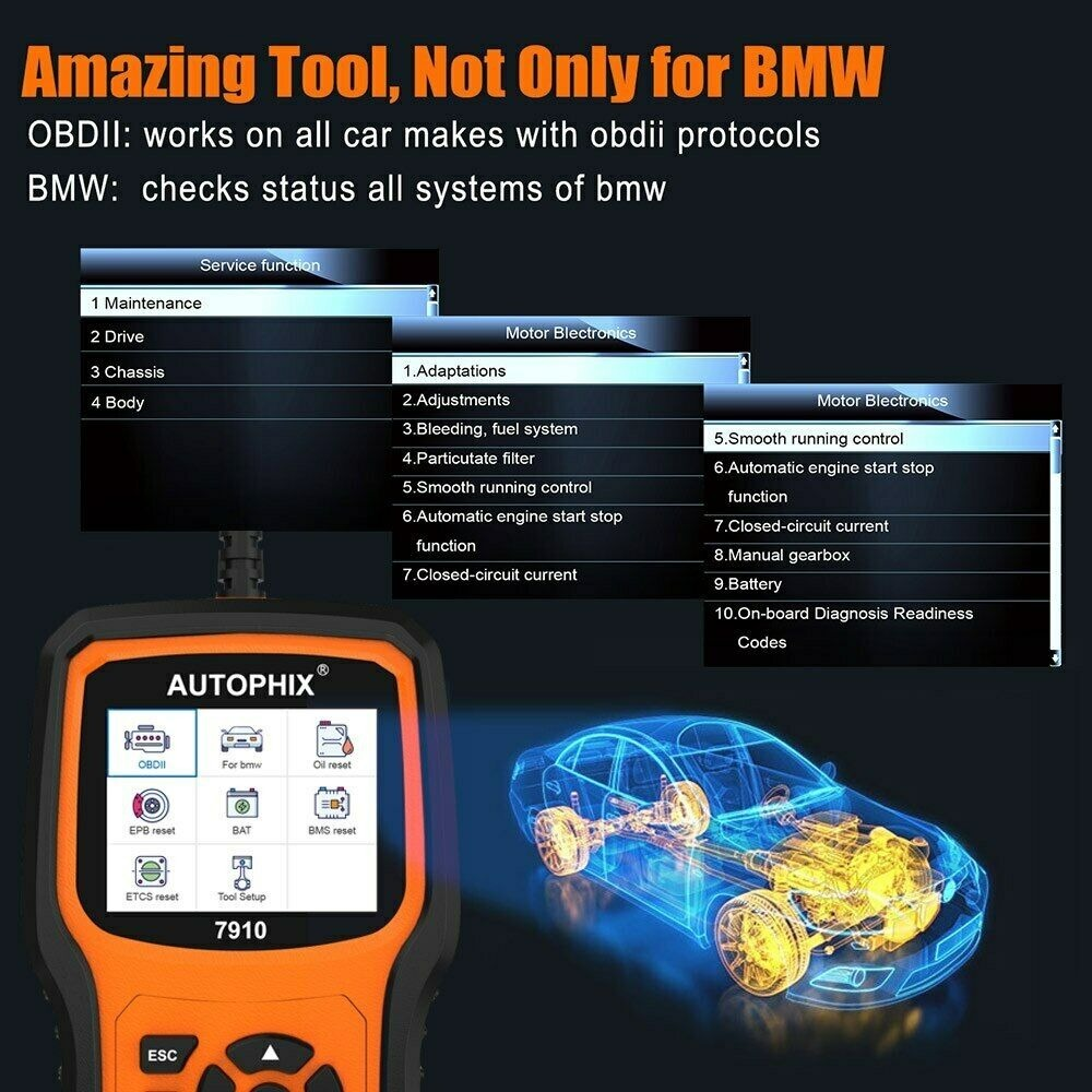 Autophix 7910 Car OBD2 Scanner For BMW ABS DPF TPMS Oil Reset Diagnostic Tool