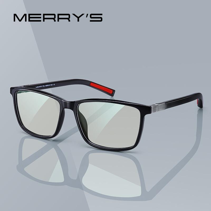 MERRYS tasarım erkekler Anti mavi ışın ışık engelleme gözlük bilgisayar için erkek kare gözlük silikon tapınak S2518FLG