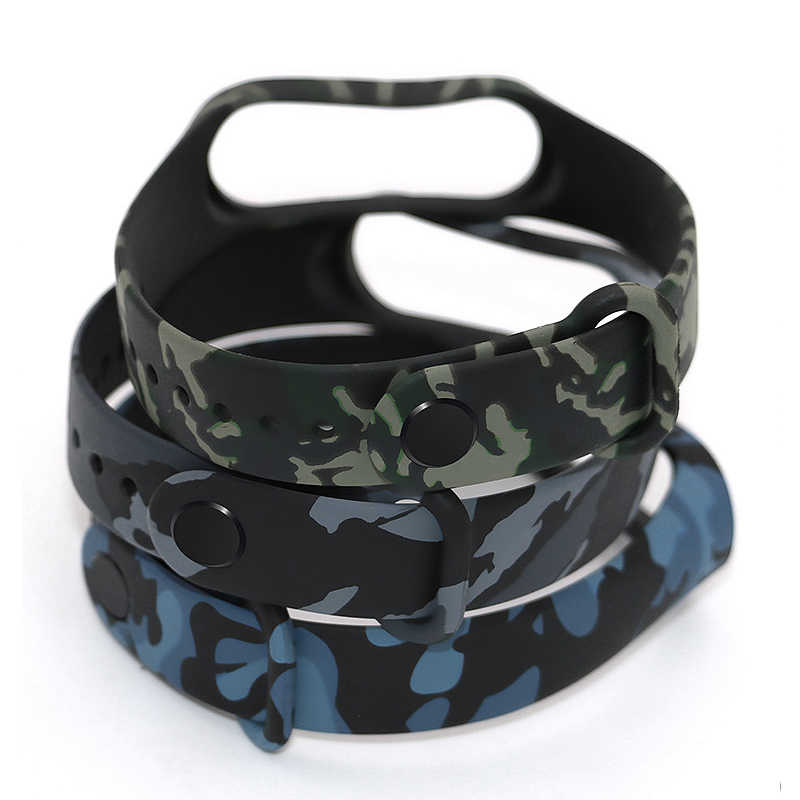 1pc Camouflage for Mi Band 4 Strap Wristband Replacement Part Smart Watch Wrist Strap for Xiaomi Bracelet Smart Accessory
