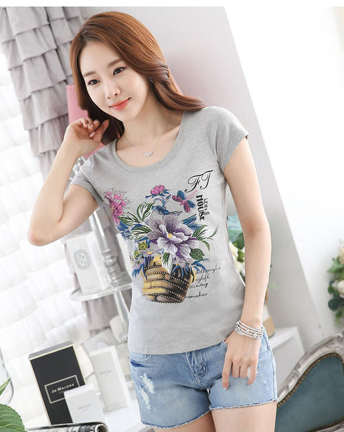 2020 Women Short Lvory Sleeve Shirtmint  Top Garment