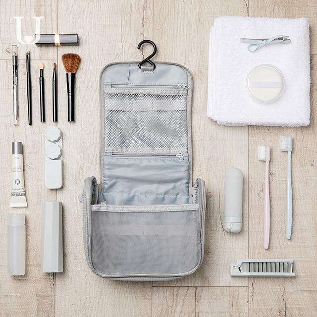 New Xiaomi Jordan&Judy Portable Travel Cosmetic Bag Neceser Hanging Wash Bag Neutral Make Up Bag Organizer Wash Storage Bag 3