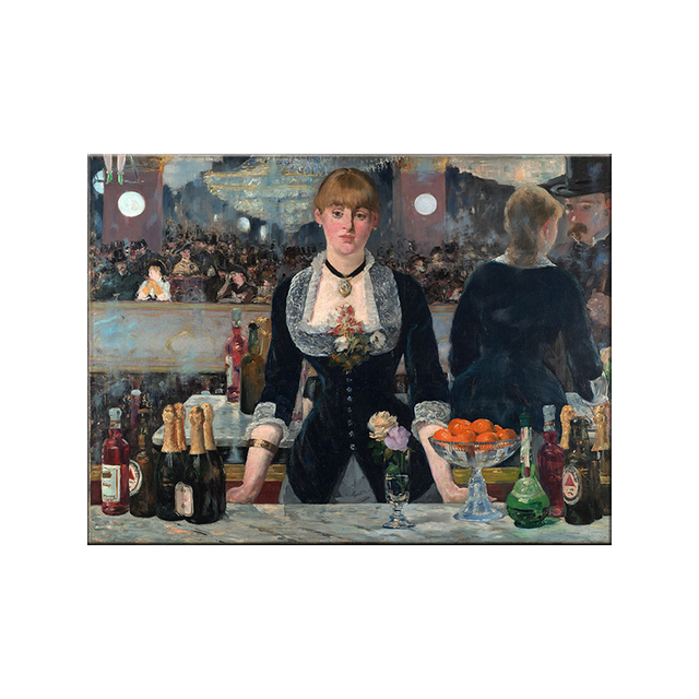 Edouard Manet A Bar At The Folies Oil Painting Canvas 6