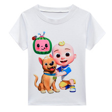 2 10Y Baby Cocomelon JJ T Shirt Baby Boys Short Sleeve Top Toddler Girls Cartoon Casual Chothes Kids Boutique Clothing Bow Skirt