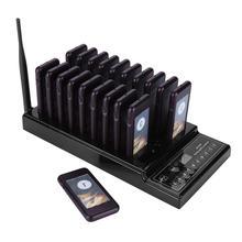 Беспроводной пейджинговый станок, 999 каналов, система очереди, пейджер для ресторанов, 1 передатчик + 20 пейджеров под горкой, ресторанное оборудование
