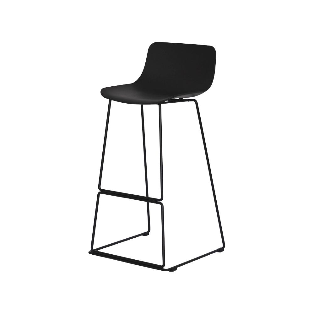 Bar Chair Modern Simple  Stool High Footstool Household   Northern Europe   Back Creative  Footed