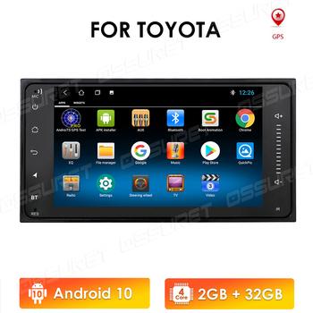 2 din android 10 uniwersalny samochodowy odtwarzacz multimedialny Stereo dla Toyota VIOS korona CAMRY HIACE PREVIA COROLLA RAV4 wifi 4G OBD2 tanie i dobre opinie OSSURET CN (pochodzenie) podwójne złącze DIN 45w*4 128G System operacyjny Android 10 0 DVD-R RW DVD-RAM VIDEO CD JPEG