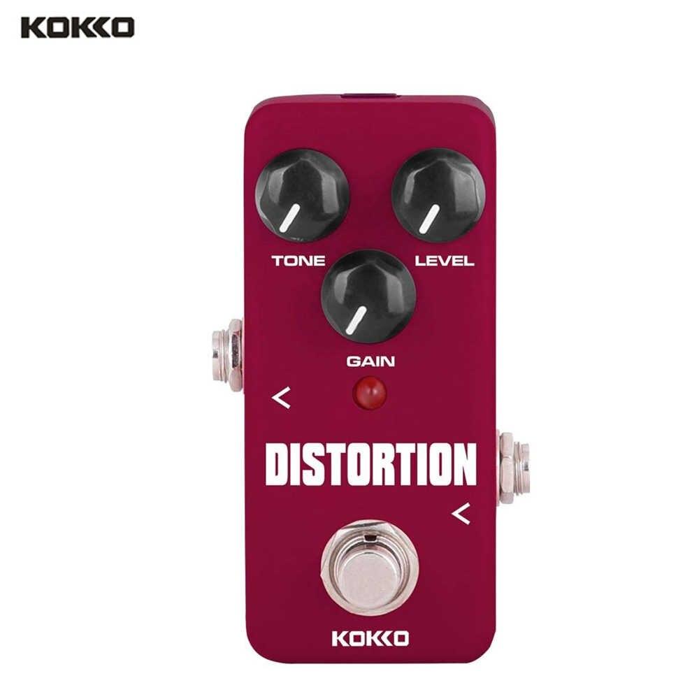 KOKKO Gitarre Effekt Pedale Kompressor Overdrive Booster Verzerrung Effekt Pedal Tuner Power Adapter Kabel Chorus Looper Pedal