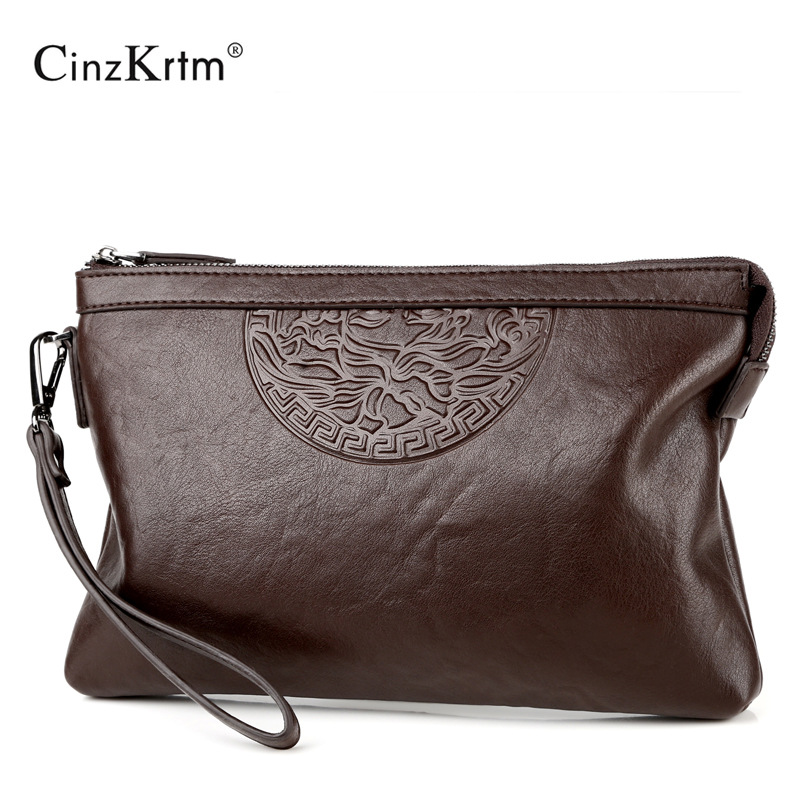 New Design Men's Day Clutch Causal Envelop Bag Big Capacity Simple Fashion Handbag Male Travel Bag