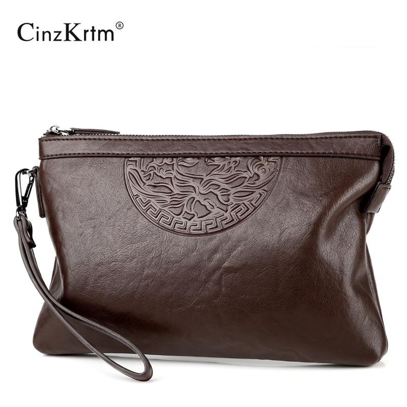 New Design Men's Day Clutch Causal Envelop Bag Big Capacity Simple Fashion Handbag Male Travel Bag
